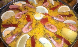 Paella Domingos: Marisco, Mixta, Carne